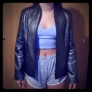 NWOT carlisle leather jacket